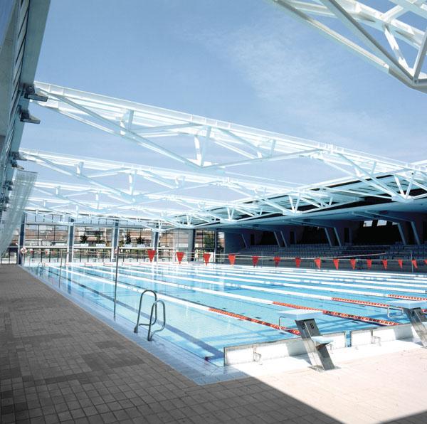 indoor olympic swimming pool terrassa mario corea arquitectura
